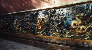 Ściana 9 smoków w klasztorze Shaolin
